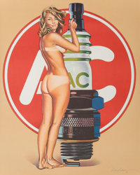 Mel Ramos (b. 1935) AC Annie, 1972 Offset lithograph in colors 30 x 24 inches (76.2 x 61 cm) (she