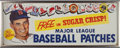 """Baseball Collectibles:Others, 1955 Ted Williams """"Sugar Crisp"""" Advertising Sign...."""