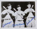 Baseball Collectibles:Photos, 1990's Joe DiMaggio, Mickey Mantle & Ted Williams SignedPhotograph....