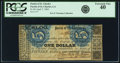 Obsoletes By State:Louisiana, Parish of St. Charles, LA - Parish of St. Charles $1 Apr. 7, 1862. PCGS Extremely Fine 40.. ...