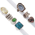 Estate Jewelry:Rings, Multi-Stone, Sterling Silver Rings. ... (Total: 9 Items)