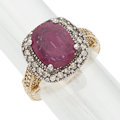 Estate Jewelry:Rings, Ruby, Diamond, Gold, White Gold Ring. ...