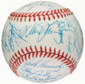 Autographs:Bats, 1988 New York Mets Team Signed Baseball (30 Signatures)....