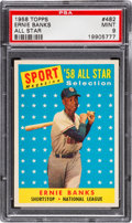 Baseball Cards:Singles (1950-1959), 1958 Topps Ernie Banks #482 All Star PSA Mint 9 - None Higher!...