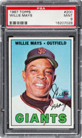 Baseball Cards:Singles (1960-1969), 1967 Topps Willie Mays #200 PSA Mint 9 - None Higher. ...