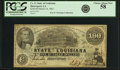 Obsoletes By State:Louisiana, Shreveport, LA - State of Louisiana $100 Mar. 10, 1863 Cr. 11. PCGS Choice About New 58.. ...