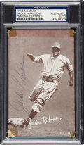 Autographs:Sports Cards, 1947-1966 Exhibits Jackie Robinson, Signed PSA/DNA Authentic. ...