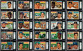 Baseball Cards:Sets, 1956 Topps Baseball Graded Complete Set (340) Plus Checklist (2)....