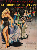 "Movie Posters:Foreign, La Dolce Vita (Consortium Pathe, 1960). Full-Bleed French Grande (46"" X 62.5""). Foreign.. ..."