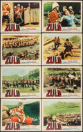 "Movie Posters:War, Zulu (Embassy, 1964). Lobby Card Set of 8 (11"" X 14""). War.. ...(Total: 8 Items)"