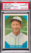 "Baseball Cards:Singles (1960-1969), 1960 Fleer ""Baseball Greats"" Eddie Collins/Pepper Martin Error #80PSA Authentic. ..."