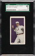 "Baseball Cards:Singles (Pre-1930), 1911 E94 Close Candy ""Old"" Cy Young (Violet) SGC 40 VG 3. ..."