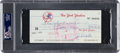 Baseball Collectibles:Others, 1979 Thurman Munson Signed New York Yankees Bonus Check. ...