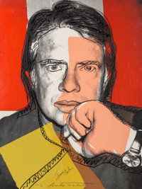 Andy Warhol (1928-1987) Jimmy Carter I, 1976 Screenprint in colors on Strathmore paper 39-1/4 x 2