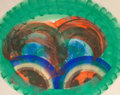 Post-War & Contemporary:Contemporary, Howard Hodgkin (b. 1932). Red Palm, 1986. Lithograph incolors with pochoir. 42-1/4 x 53-1/4 inches (107.2 x 135.1 cm) (...