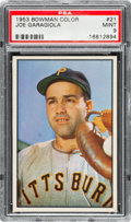 Baseball Cards:Singles (1950-1959), 1953 Bowman Color Joe Garagiola #21 PSA Mint 9 - None Higher!...