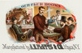 "Miscellaneous Collectibles:General, Circa 1890 ""Our Club Rooms"" Inner Cigar Label...."