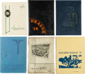 Autographs:Others, 1939-79 Baseball Greats Signed High School Yearbooks Lot of 14 - ExHalper....