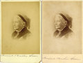 Autographs:Authors, TWO HARRIET BEECHER STOWE SIGNED CABINET CARDS, CIRCA 1880S....(Total: 2 Items)