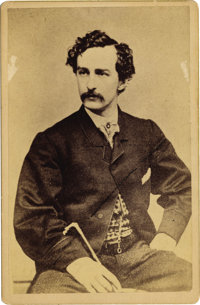 JOHN WILKES BOOTH CABINET CARD, 1863
