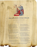 "Military & Patriotic:Civil War, CIVIL WAR SONG SHEET ""ON THE DEATH OF COLONEL ELLSWORTH,"" CIRCA 1860S...."