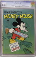 Golden Age (1938-1955):Cartoon Character, Four Color #27 Mickey Mouse (Dell, 1943) CGC FN+ 6.5 Off-white towhite pages....