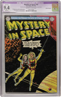 Golden Age (1938-1955):Science Fiction, Mystery in Space #16 Cosmic Aeroplane pedigree (DC, 1953) CGCApparent NM 9.4 Slight (P) Off-white to white pages....