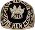 Baseball Collectibles:Others, Late 1980's 500 Home Run Club Ring....
