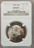 Kennedy Half Dollars, 1965 50C MS65 ★ NGC. NGC Census: (473/104 and 3/4*). PCGSPopulation (422/148 and 3/4*). Mint...