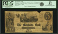 Obsoletes By State:Minnesota, Mankato City, MN - Merchants Bank $5 Sep. 1, 1854 MN-75 G2, HewittA160-D5-2. PCGS Fine 12 Apparent.. ...