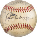 Baseball Collectibles:Balls, 1968 Oakland Athletics Team Signed Baseball with DiMaggio. ...