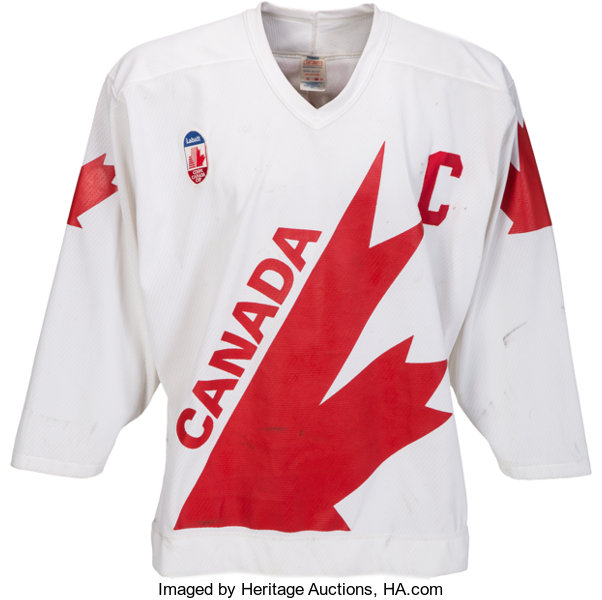 separation shoes be462 25230 1987 Wayne Gretzky Canada Cup Preliminaries Game Worn Jersey ...