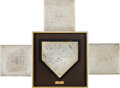Baseball Collectibles:Balls, 1989 World Series Game Four Used Bases and Home Plate from Candlestick Park....