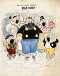 Original Comic Art:Illustrations, Rudolph Dirks (signing as Rudie D) The Captain and the Kids Specialty Illustration Original Art (1915)....