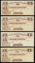 Obsoletes By State:Ohio, Spring Valley, OH- Spring Valley Currency - Unknown Issuer(s) $1;$2; $3; $5 186_. ... (Total: 4 notes)