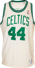 Basketball Collectibles:Uniforms, 1989-90 Danny Ainge Signed Game Issued Boston Celtics Jersey....