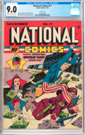 Golden Age (1938-1955):Superhero, National Comics #17 San Francisco Pedigree (Quality, 1941) CGC VF/NM 9.0 Off-white to white pages....