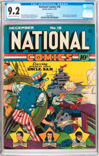 National Comics #18 San Francisco Pedigree (Quality, 1941) CGC NM- 9.2 Off-white to white pages