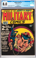 Golden Age (1938-1955):War, Military Comics #5 Double Cover (Quality, 1941) CGC VF 8.0 Cream tooff-white pages....