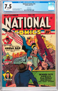 Golden Age (1938-1955):Superhero, National Comics #15 San Francisco Pedigree (Quality, 1941) CGC VF- 7.5 White pages....