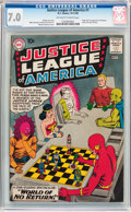 Silver Age (1956-1969):Superhero, Justice League of America #1 (DC, 1960) CGC FN/VF 7.0 Off-white to white pages....