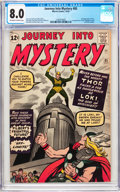 Silver Age (1956-1969):Superhero, Journey Into Mystery #85 (Marvel, 1962) CGC VF 8.0 Off-white towhite pages....