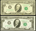 Error Notes:Error Group Lots, Error $10 Federal Reserve Notes Fine or Better.. ... (Total: 2notes)