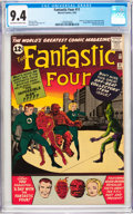 Silver Age (1956-1969):Superhero, Fantastic Four #11 (Marvel, 1963) CGC NM 9.4 Off-white to whitepages....