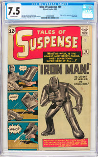 Tales of Suspense #39 (Marvel, 1963) CGC VF- 7.5 Off-white pages