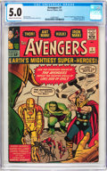 Silver Age (1956-1969):Superhero, The Avengers #1 (Marvel, 1963) CGC VG/FN 5.0 Cream to off-whitepages....