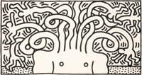 Keith Haring (1958-1990) Medusa Head, 1986 Aquatint on Hahnemühle paper 50-1/4 x 93-3/4 inches (1