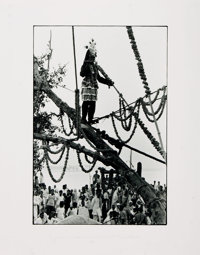 [Photography]. William Gedney, photographer. Photograph by Gedney Depicting Krishna Festival in Benares, India (1970)
