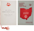 Football Collectibles:Programs, 1950-55 Heisman Memorial Trophy Award Presentation Programs Signed by Ohio State Winners Lot of 2. ...