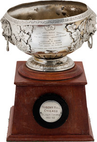 1961-62 Art Ross Trophy Presented to Bobby Hull with Player Letter